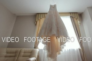 Wedding Dress in Room.