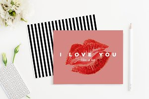 "Printable ""I Love You"" Card Template"