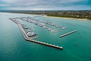 Aerial view of Blairgowrie Marina