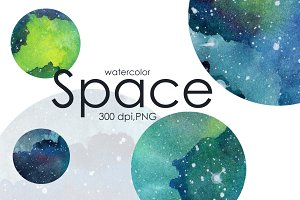 Watercolor space