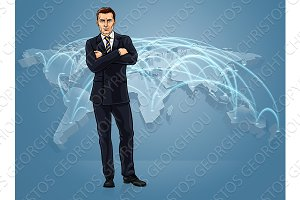 Business World Trade Global Map Logistics Concept
