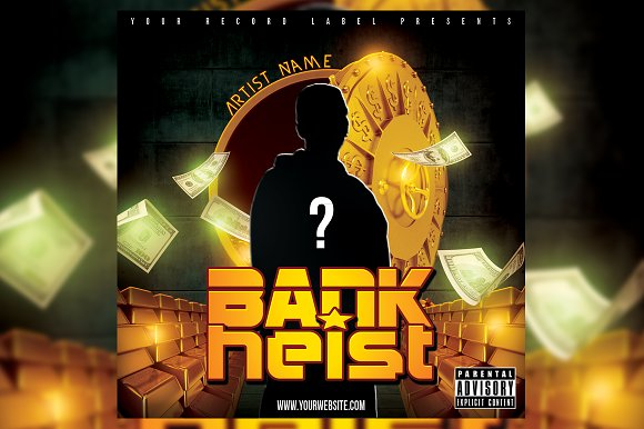 Bank Heist CD Cover Template in Templates