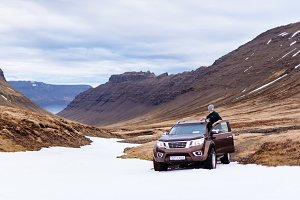 Offroad Driving in Nordic Landscape