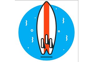surf graphic design illustration