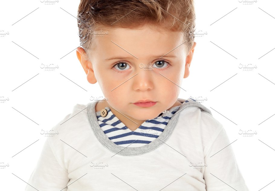 Cute baby with blue eyes - Education