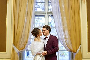 Fancy wedding couple