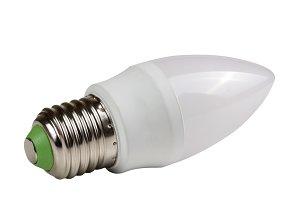 led lamp bulb isolated on white background