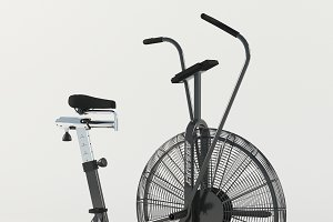 Air bike trainer