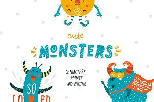 Cute Monsters - Kids collection