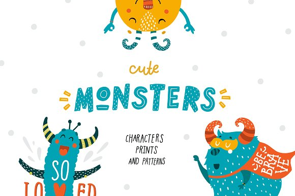 Cute Monsters Kids Collection