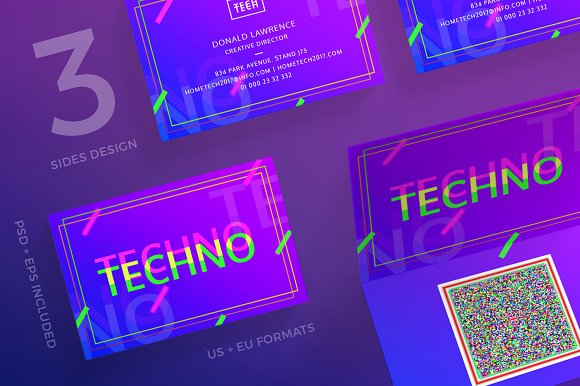 Business Cards Home Tech