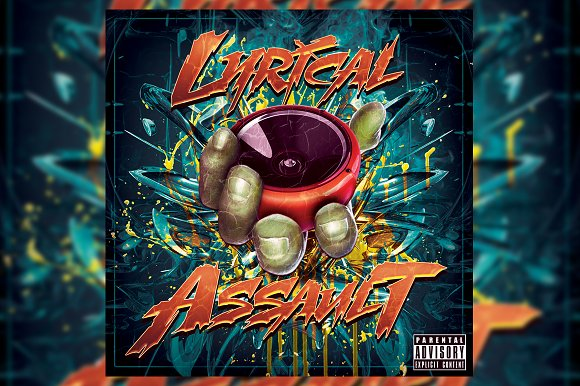 Lyrical Mixtape Cover Template PSD