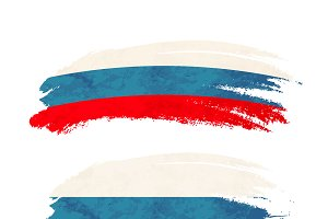 Brush stroke with Russia flag