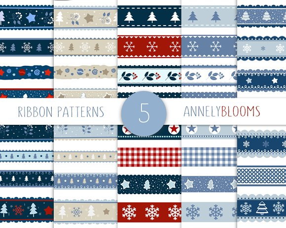 Christmas Ribbon Patterns
