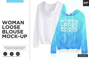 Woman Loose Blouse Mock-up