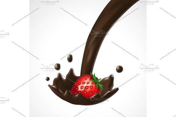 Strawberry And Chocolate Splash