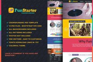 FunStarter Crowdfunding PSD Template