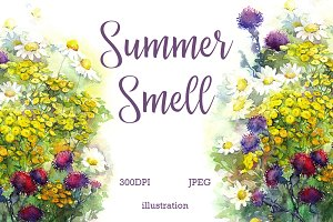 SALE! Watercolor summer smell