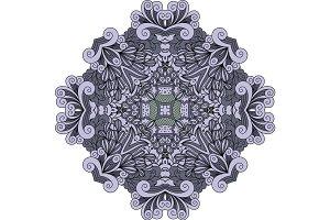 Violet doodle decorative element