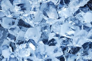 Photo of natural ice cubes.