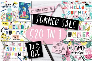 520 IN 1 BEST SUMMER BUNDLE - 70%OFF