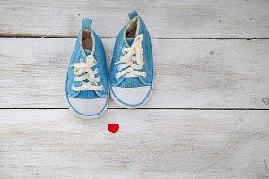 Baby blue sneakers