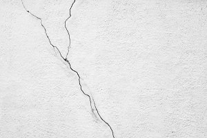Old concrete cracked wall