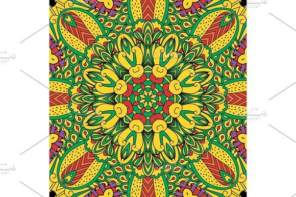 Colorful Ornamental Decorative Background