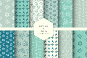Seamless patterns and label