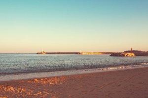 Vintage Ocean Shore