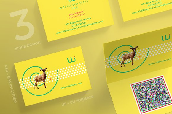 Business Cards World Wildlife Day