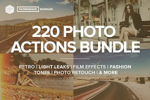 FilterGrade - 220 Actions Bundle