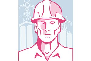 Construction Engineer Worker Hardhat