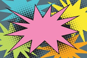 pink comic burst explosion pop art