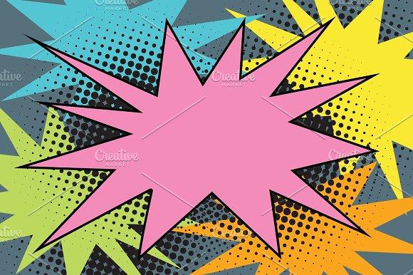 Pink Comic Burst Explosion Pop Art