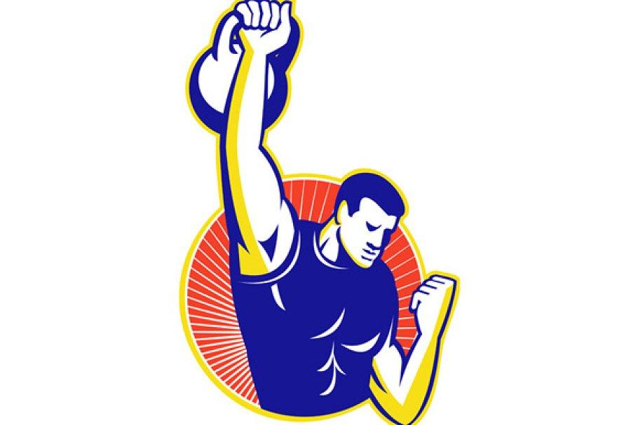 Strongman Lifting Kettlebell Weight