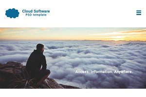 Cloud Software Website PSD Template