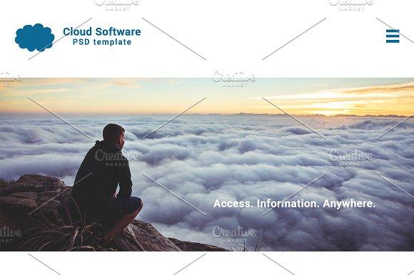 Cloud Software Website PSD Template