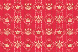 Royal red background vector