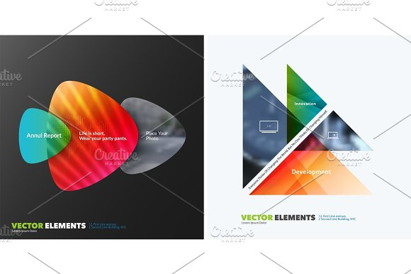 Abstract annual report, business vector template. Brochure design, cover  in Illustrations