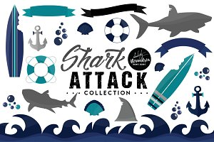 Shark Attack Graphics & Patterns