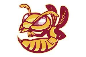 angry female hornet mascot