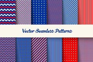 Seamless american patriotic pattern