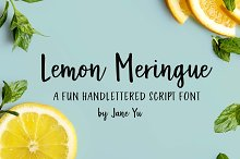 Lemon Meringue Font