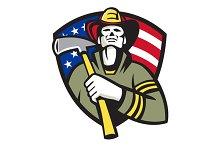 American Fireman Firefighter Emergen