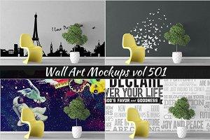 Wall Mockup - Sticker Mockup Vol 501