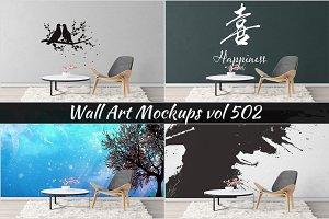 Wall Mockup - Sticker Mockup Vol 502
