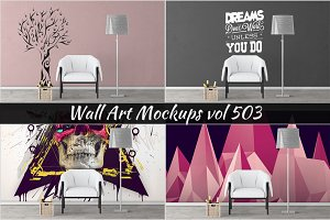 Wall Mockup - Sticker Mockup Vol 503