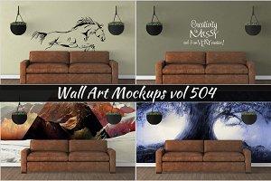 Wall Mockup - Sticker Mockup Vol 504