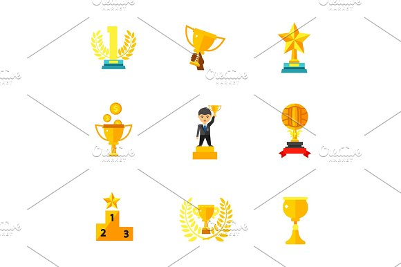 Competition Award Icon Set